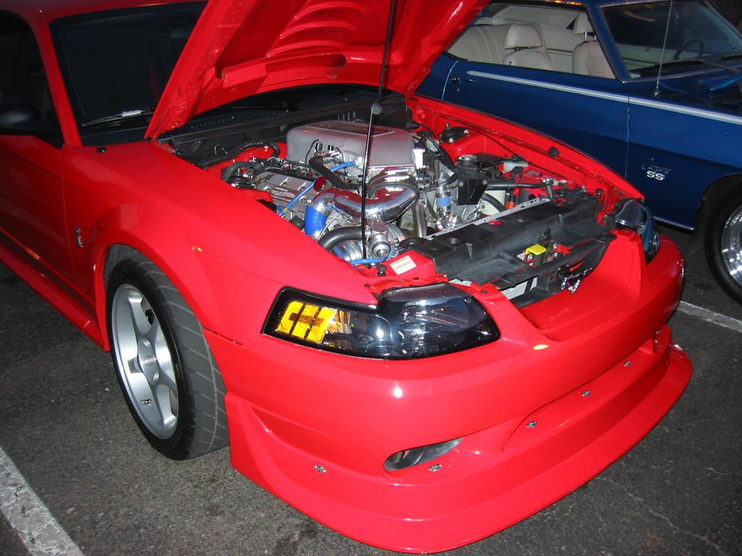Mcdonalds car show 03 cobra r underhood