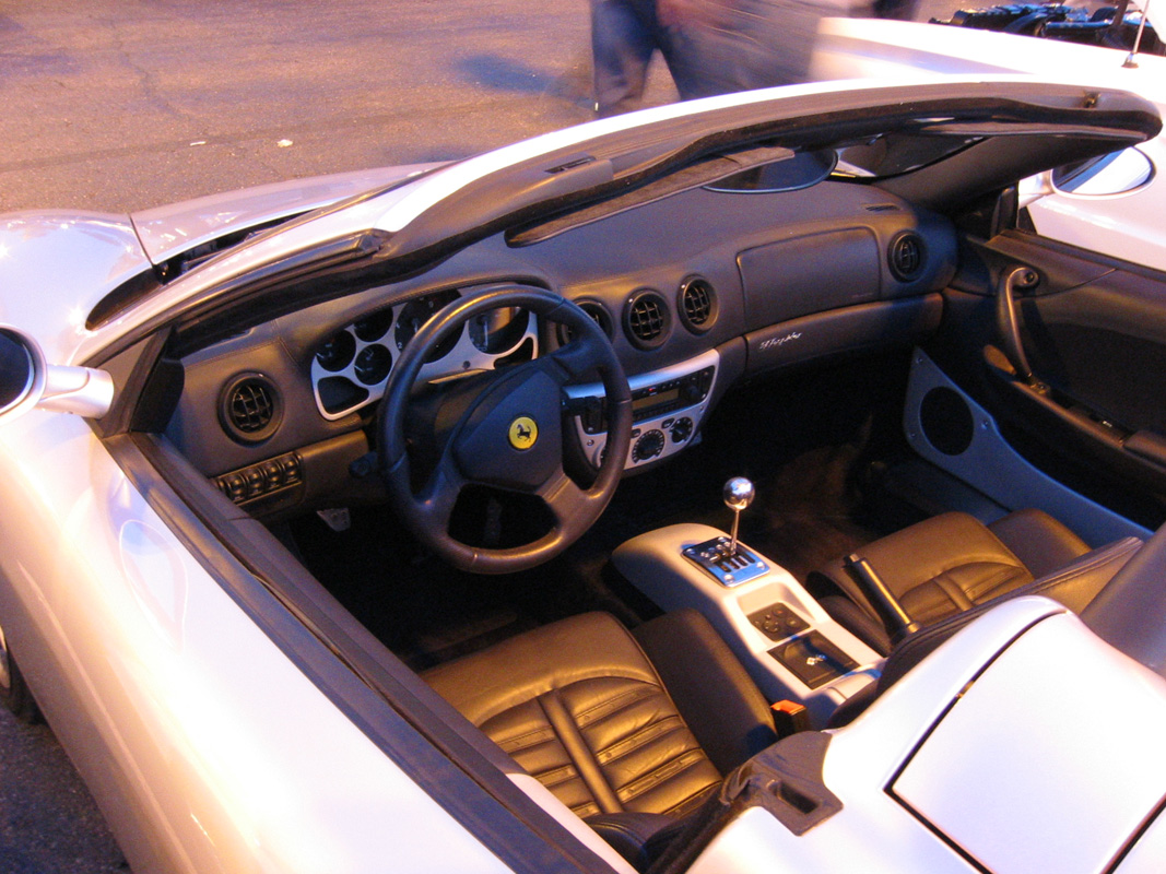 mcdonalds car show 09 ferrari 360 interior. Black Bedroom Furniture Sets. Home Design Ideas